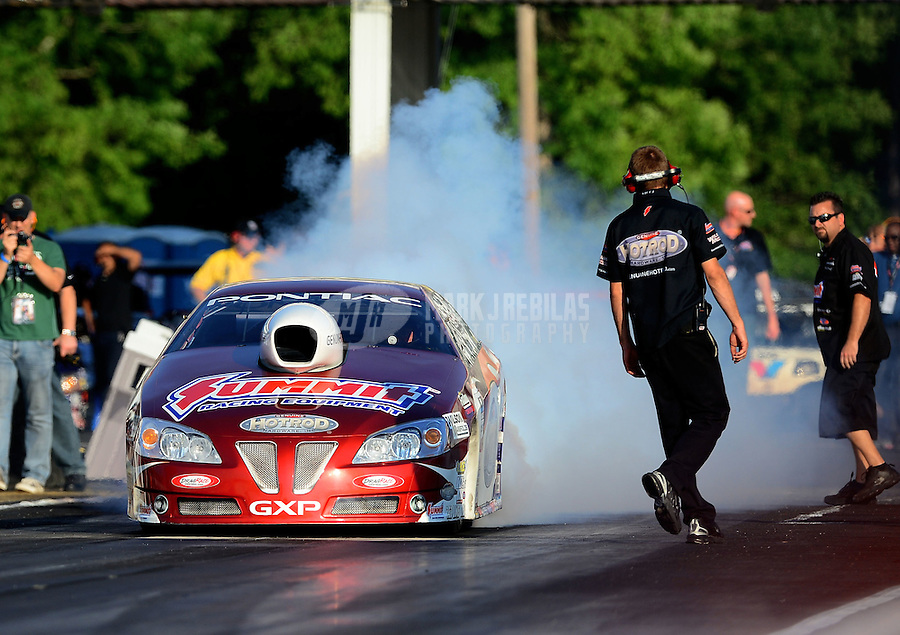 May 4, 2012; Commerce, GA, USA: NHRA pro stock driver Ronnie Humphrey during qualifying for the Southern Nationals at Atlanta Dragway. Mandatory Credit: Mark J. Rebilas-
