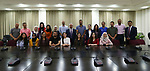 Palestinian Prime Minister Mohammad Ishtayeh meets with a delegation from Sharek Youth Forum, at his headquarter in the West Bank city of Ramallah on May 29, 2019. Photo by Prime Minister Office