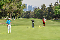 Rickie Fowler (USA) watches his long putt on 15 during round 3 of the World Golf Championships, Mexico, Club De Golf Chapultepec, Mexico City, Mexico. 2/23/2019.<br /> Picture: Golffile | Ken Murray<br /> <br /> <br /> All photo usage must carry mandatory copyright credit (© Golffile | Ken Murray)