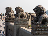 MarcoPolo-Brücke in Peking, China, Asien<br /> MarcoPolo-bridge, Beijing, China, Asia