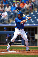 Tulsa Drillers first baseman Lars Anderson (16) at bat during a game against the Midland RockHounds on June 3, 2015 at Oneok Field in Tulsa, Oklahoma.  Midland defeated Tulsa 5-3.  (Mike Janes/Four Seam Images)