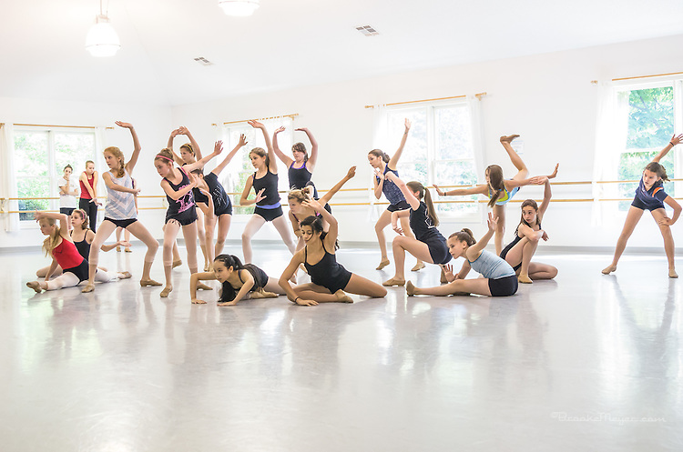 """Studio Rehearsal """"Rhythms of The Rain Forest"""", the 2012 Annual Recital by the Cary Ballet Conservatory."""