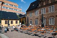 Norwegen, Oslo, Haus Rådmannsgården am Christiania Torv, ältestes Haus Oslos von 1626