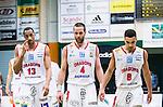 S&ouml;dert&auml;lje 2015-04-10 Basket SM-Semifinal 5 S&ouml;dert&auml;lje Kings - Sundsvall Dragons :  <br /> Sundsvall Dragons Shane Edwards , Hlynur Baeringsson och Charles Barton JR deppar under matchen mellan S&ouml;dert&auml;lje Kings och Sundsvall Dragons <br /> (Foto: Kenta J&ouml;nsson) Nyckelord:  S&ouml;dert&auml;lje Kings SBBK T&auml;ljehallen Sundsvall Dragons depp besviken besvikelse sorg ledsen deppig nedst&auml;md uppgiven sad disappointment disappointed dejected