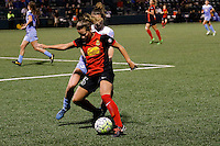 Rochester, NY - Friday July 01, 2016: Meredith Speck, Arin Gilliland during a regular season National Women's Soccer League (NWSL) match between the Western New York Flash and the Chicago Red Stars at Rochester Rhinos Stadium.