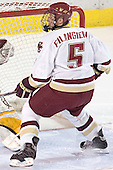 Tim Filangieri - The Boston College Eagles and Ferris State Bulldogs tied at 3 in the opening game of the Denver Cup on Friday, December 30, 2005, at Magness Arena in Denver, Colorado.  Boston College won the shootout to determine which team would advance to the Final.