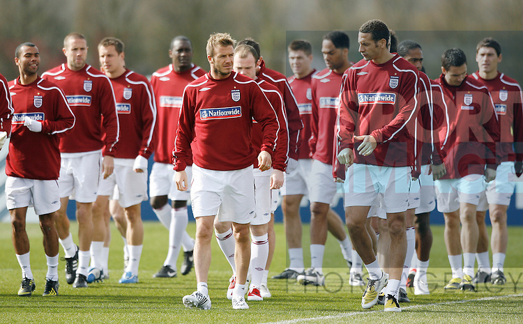 England's David Beckham leads from the front