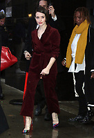 NEW YORK, NY- NOVEMBER 5: Claire Foy at Good Morning America to talk about her new movie The Girl In The Spider's Web in New York City. November 05, 2018. <br /> CAP/MPI/RW<br /> &copy;RW/MPI/Capital Pictures