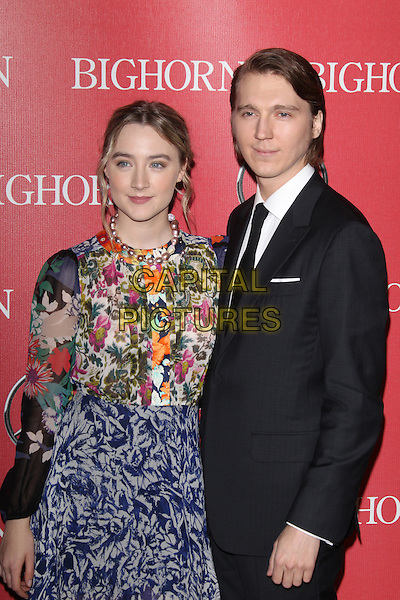 PALM SPRINGS, CA - JANUARY 2: Saoirse Ronan and Paul Dano at the 27th Annual Palm Springs International Film Festival Awards Gala at Palm Springs Convention Center on January 2, 2016 in Palm Springs, California. <br /> CAP/MPI24<br /> &copy;MPI24/Capital Pictures