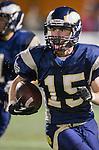 El Segundo, CA 11/29/13 - Jamie Stewart (El Segundo #15) in action during the CIF Southern Section Northern Division semi-final game between El Segundo and Oak Park. El Segundo defeated Oak Park 59-40.