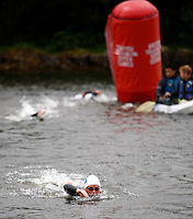 Photo: Richard Lane/Richard Lane Photography. British Triathlon Super Series, Parc Bryn Bach. 18/07/2009. .Swimming during the Women's Elite Race transition area.