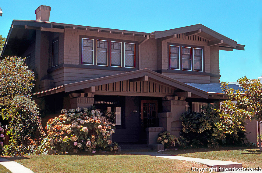 San Diego: Craftsman Style House, Hillcrest. (Taken in 1978.)