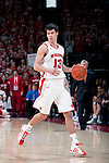 Wisconsin Badgers guard Duje Dukan (13) handles the ball during a Big Ten Conference NCAA college basketball game against the Illinois Fighting Illini on Sunday, March 4, 2012 in Madison, Wisconsin. The Badgers won 70-56. (Photo by David Stluka)