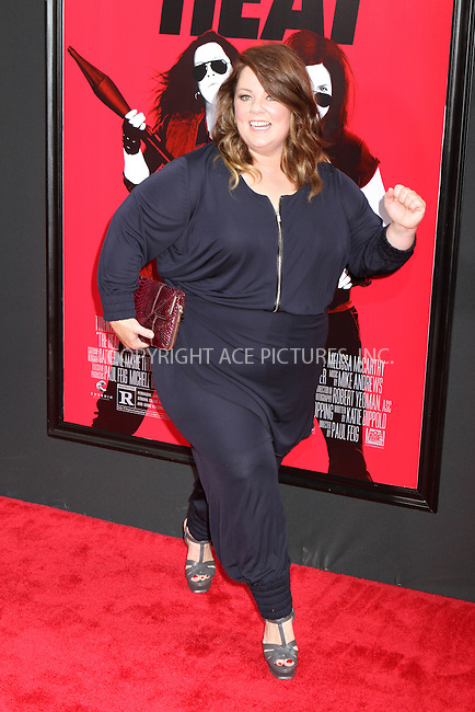 WWW.ACEPIXS.COM<br /> <br /> June 23 2013, New York City<br /> <br /> Melissa McCarthy at the premiere of The Heat at the Zeigfeld Theatre on June 23 2013 in New York City<br /> <br /> By Line: Nancy Rivera/ACE Pictures<br /> <br /> <br /> ACE Pictures, Inc.<br /> tel: 646 769 0430<br /> Email: info@acepixs.com<br /> www.acepixs.com