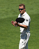 1st December 2017, Basin Reserve, Wellington, New Zealand; International Test Cricket, Day 1, New Zealand versus West Indies;  Neil Wagner thanks the fans as he celebrates his fiqures of 7/39