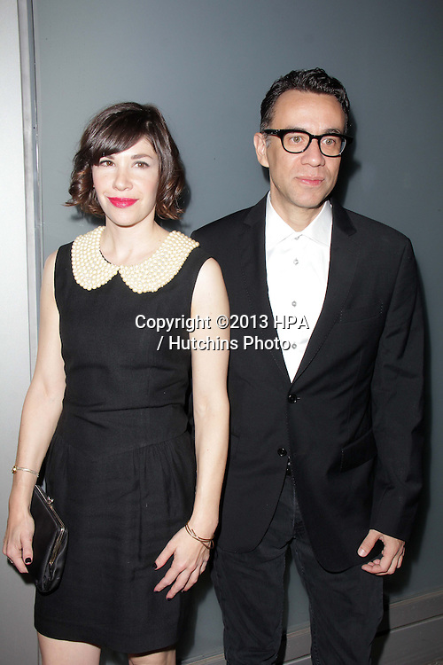 LOS ANGELES - NOV 7:  Carrie Brownstein, Fred Armisen at the Flaunt Magazine November Issue Party at Hakkasan on November 7, 2013 in Beverly Hills, CA\