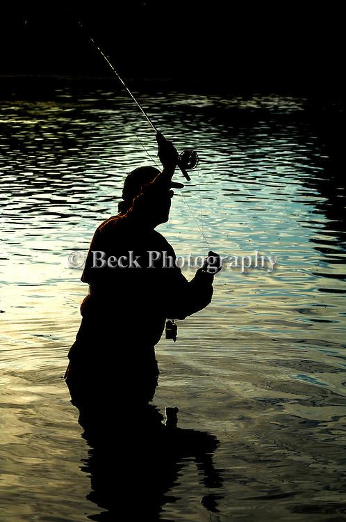 Ron Taniwaki fly fishing the Bighorn River in Montana.