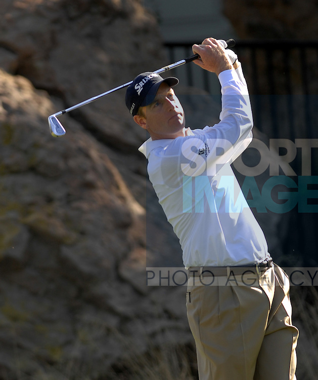 December 16 2007: Jim Furyk tees off on the 12th tee during the final round of the Target World Challenge at the Sherwood Country Club in Thousand Oaks, California CA.
