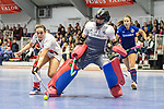 Mannheim, Germany, January 03: During the 1. Bundesliga women indoor hockey match between TSV Mannheim and Mannheimer HC on January 3, 2020 at Primus-Valor Arena in Mannheim, Germany. Final score 4-4. (Photo by Dirk Markgraf / www.265-images.com) *** Lisa Schneider of Mannheimer HC