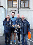 Liam, Ben, Martin and Michael Brennan after the Colmcilles V Dunderry,  Meath Intermediate Final Replay at P&aacute;irc Tailteann, Navan.<br /> <br /> <br /> Photo - Jenny Matthews