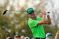 Justin Thomas (USA) on the 9th tee during the 3rd round of the Waste Management Phoenix Open, TPC Scottsdale, Scottsdale, Arisona, USA. 02/02/2019.<br /> Picture Fran Caffrey / Golffile.ie<br /> <br /> All photo usage must carry mandatory copyright credit (&copy; Golffile | Fran Caffrey)