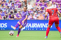 Orlando, FL - Saturday April 22, 2017: Camilinha during a regular season National Women's Soccer League (NWSL) match between the Orlando Pride and the Washington Spirit at Orlando City Stadium.