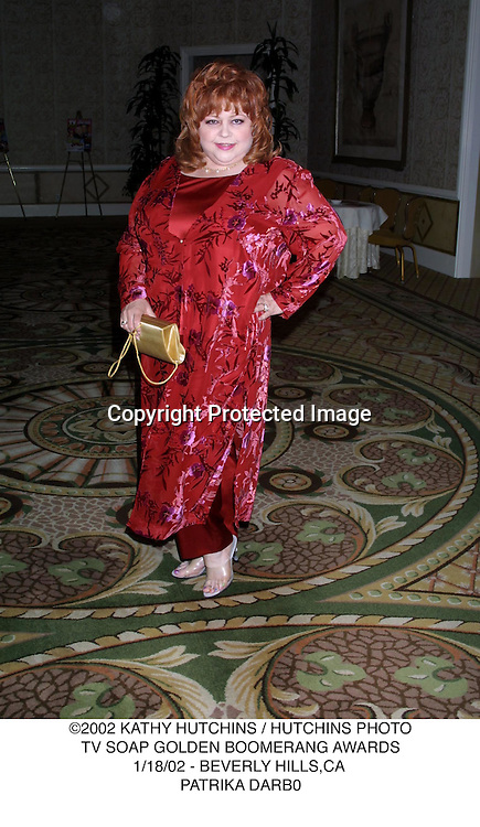 ©2002 KATHY HUTCHINS / HUTCHINS PHOTO.TV SOAP GOLDEN BOOMERANG AWARDS.1/18/02 - BEVERLY HILLS,CA .PATRIKA DARB0