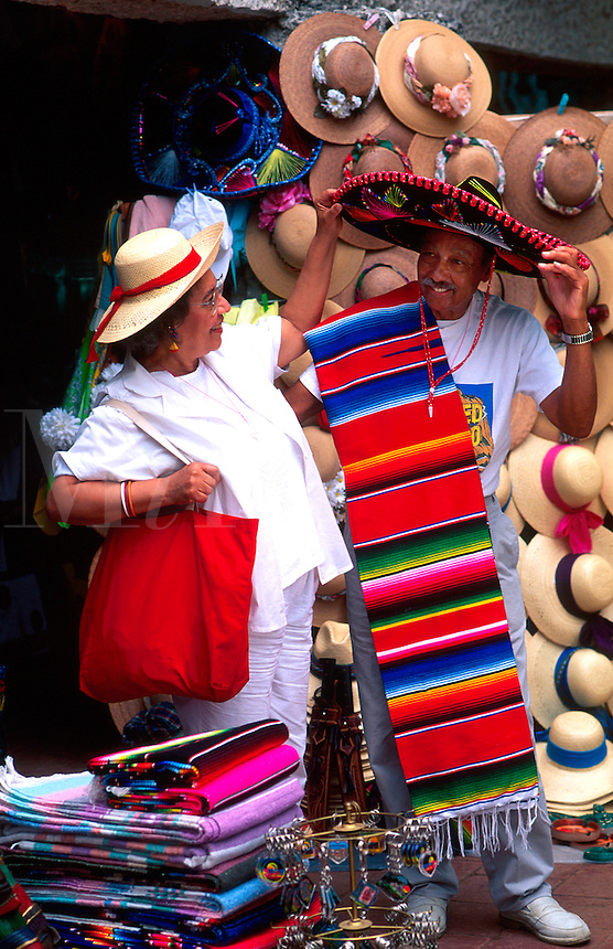 Tourism couple shopping Mexico