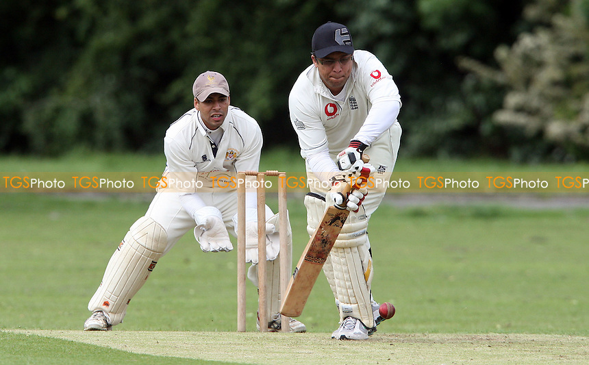 A Shaukat of Newham in batting action - Hornchurch Athletic CC vs Newham CC, Essex League at Hylands Park, Hornchurch - 09/06/12 - MANDATORY CREDIT: Rob Newell/TGSPHOTO - Self billing applies where appropriate - 0845 094 6026 - contact@tgsphoto.co.uk - NO UNPAID USE..