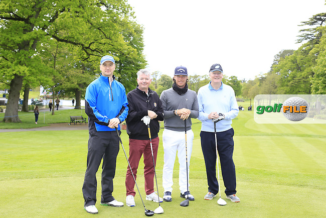 Kristoffer Broberg's (SWE) team during Wednesday's Pro-Am of the 2016 Dubai Duty Free Irish Open hosted by Rory Foundation held at the K Club, Straffan, Co.Kildare, Ireland. 18th May 2016.<br /> Picture: Eoin Clarke | Golffile<br /> <br /> <br /> All photos usage must carry mandatory copyright credit (&copy; Golffile | Eoin Clarke)