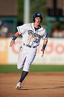 Kane County Cougars left fielder Ryan Grotjohn (33) runs the bases during a game against the West Michigan Whitecaps on July 19, 2018 at Northwestern Medicine Field in Geneva, Illinois.  Kane County defeated West Michigan 8-5.  (Mike Janes/Four Seam Images)