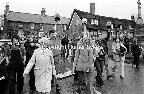 Bottle Kicking and Hare Pie Scrambling, Hallaton, Leicestershire, England 1973. Easter Monday.<br />