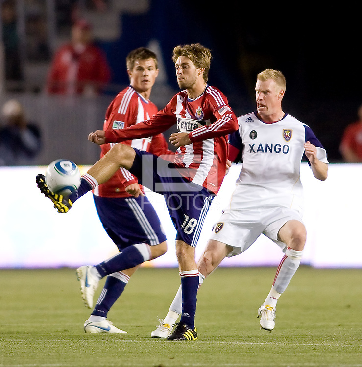 Chivas USA forward Blair Gavin (18) traps a ball. Real Salt Lake defeated CD Chivas USA 2-1at Home Depot Center stadium in Carson, California on Saturday May 22, 2010.  .