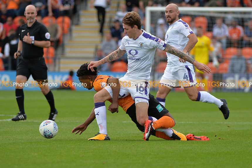 Shaquile Coulthirst of Barnetand Glen Rea of Luton Town during Barnet vs Luton Town, Sky Bet EFL League 2 Football at the Hive Stadium on 12th August 2017