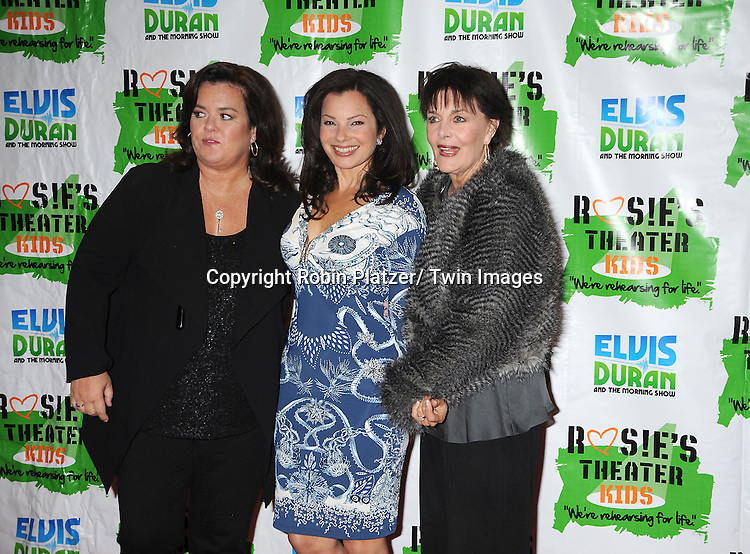 Rosie O'Donnell, Fran Drescher and Linda Dano attending The Rosie's Theatre Kids Gala on September 19, 2011 at The New York Marriott Marquis Hotel in New York City.