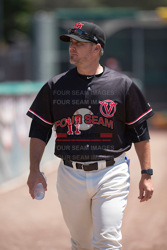 Visalia Rawhide pitching coach Jeff Bajenaru (11) before a California League game against the Stockton Ports at Visalia Recreation Ballpark on May 9, 2018 in Visalia, California. Stockton defeated Visalia 4-2. (Zachary Lucy/Four Seam Images)