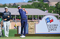 Dominic Bozzelli (USA) watches his tee shot on 11 during round 4 of the Valero Texas Open, AT&amp;T Oaks Course, TPC San Antonio, San Antonio, Texas, USA. 4/23/2017.<br /> Picture: Golffile | Ken Murray<br /> <br /> <br /> All photo usage must carry mandatory copyright credit (&copy; Golffile | Ken Murray)