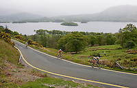 16 MAY 2009 - KESWICK,GBR - Competitors make their way along the side of Derwent Water during the Keswick Mountain Festival Triathlon (PHOTO (C) NIGEL FARROW)