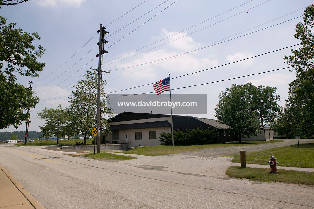 21 June 2005 - Oaks, PA - View of one of the buildings of the Annin & Co. flag manufacturing plant in Oaks, PA. Photo Credit: David Brabyn.