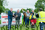 Presentation to winners of the first race Another Tiger with jockey Michael Sheehy at the  Castleisland races in Powells road Castleisland on Saturday
