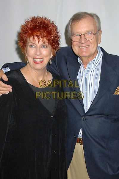 "MARCIA WALLACE & BILL DAILY.The Paley Center and TV Land Host 35th Anniversary of ""The Bob Newhart Show"" at The Paley Center, Beverly Hills, California, USA..September 5th, 2007.half length black cardigan blue jacket glasses .CAP/ADM/BP.©Byron Purvis/AdMedia/Capital Pictures"