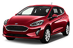 2017 Ford Fiesta Titanium 3 Door Hatchback angular front stock photos of front three quarter view