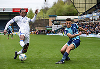 Luke O'Nien of Wycombe Wanderers during the Sky Bet League 2 match between Wycombe Wanderers and Mansfield Town at Adams Park, High Wycombe, England on the 14th April 2017. Photo by Liam McAvoy.