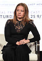 """PASADENA, CA - JANUARY 17: Producer Kirstine Barfod attends the panel for """"The Cave,"""" Storytelling With Courage during the National Geographic presentation at the 2020 TCA Winter Press Tour at the Langham Huntington on January 17, 2020 in Pasadena, California. (Photo by Frank Micelotta/National Geographic/PictureGroup)"""