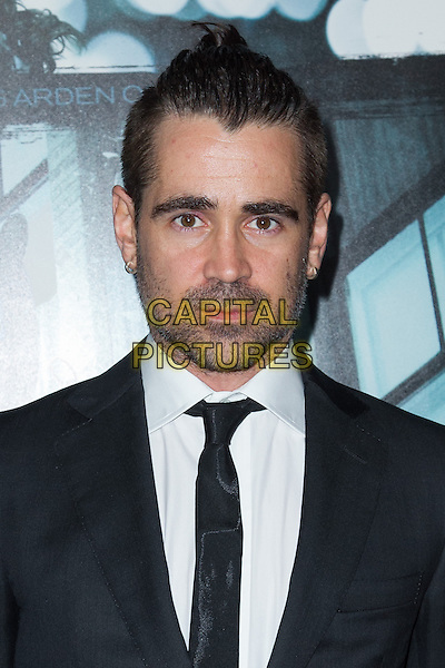 Colin Farrell.The premiere of FilmDistricts's 'Dead Man Down' at ArcLight Hollywood, Hollywood, California, USA..February 26th, 2013.black suit white shirt stubble facial hair headshot portrait tie.CAP/ADM/JS.©John Salangsang/AdMedia/Capital Pictures.