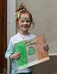170318<br /> 6 year old Ella McCarthy during St Patricks Day parade in Tulla.Pic Arthur Ellis.