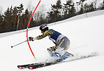 FRANCONIA, NH - MARCH 10:   Morten Bakke of Montana State participates in the men's Slalom at the Division I Men's and Women's NCAA Skiing Championships held at Jackson Ski Touring on March 10, 2017 in Jackson, New Hampshire. (Photo by Gil Talbot/NCAA Photos via Getty Images)