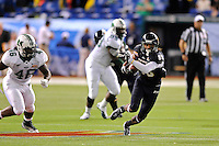 20 December 2011:  FIU wide receiver Jacob Younger (88) makes his way through the secondary in the third quarter as the Marshall University Thundering Herd defeated the FIU Golden Panthers, 20-10, to win the Beef 'O'Brady's St. Petersburg Bowl at Tropicana Field in St. Petersburg, Florida.