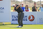 Kenneth Ferrie (ENG) tees off on the 17th tee on his way to shooting 11 under par for a score of 60 during Day 3 Saturday of the Open de Andalucia de Golf at Parador Golf Club Malaga 26th March 2011. (Photo Eoin Clarke/Golffile 2011)