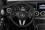 Car pictures of steering wheel view of a 2018 Mercedes Benz GLC-Class 300 5 Door SUV